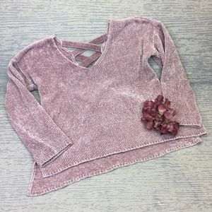 Pink Rose chennel knit sweater